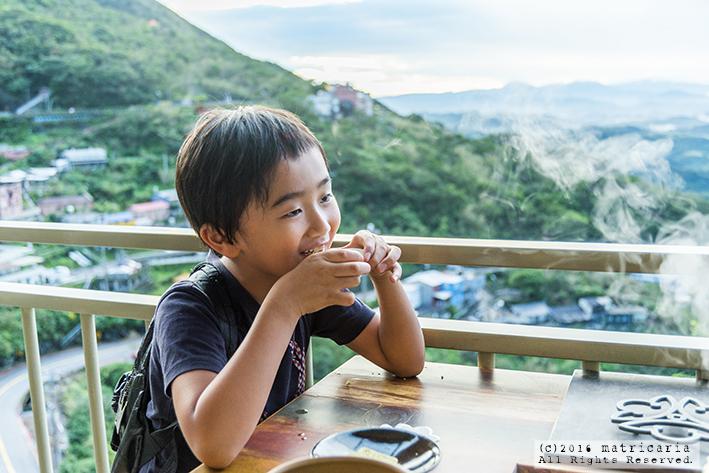 九份のおすすめ茶藝館「水心月茶房」。味も眺めも抜群!