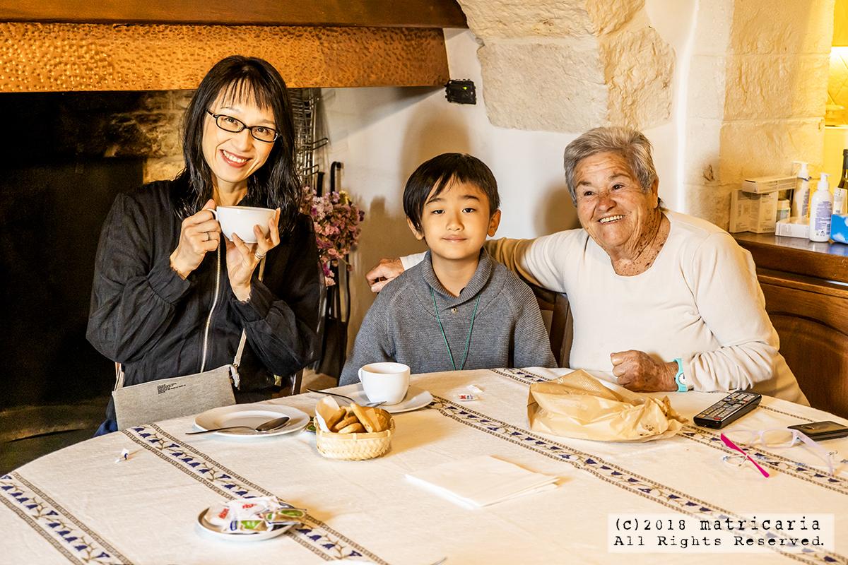 アルベロベッロ「マタレーゼ」Mariaおばあちゃんのカプチーノ